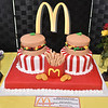 (Brad Davis/The Register-Herald) The special cake made for longtime, retiring Plaza McDonald's employees Jessie Wolfe and Mary Garris September 19 at Black Knight.