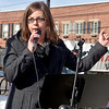 (Brad Davis/The Register-Herald) U.S. Senate candidate Paula Jean Swearengin speaks Saturday afternoon.