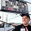 Wesley Hutson, unit manager Omelette Shop Harper Road in Beckley, proposed to his wife Amanda Hutson to renew their marriage vovw.<br /> (Rick Barbero/The Register-Herald)