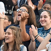 (Brad Davis/The Register-Herald) Valley students react to events on the field Friday night in Smithers.