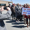 (Brad Davis/The Register-Herald) Donald Trump supporters await his arrival Thursday afternoon.