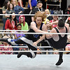 (Brad Davis/The Register-Herald) Nerds of all genres take in the over-the-top entertainment of an amateur wrestling show during Causeacon Saturday afternoon at the Beckley-Raleigh County Convention Center.