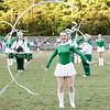 The Fayetteville Marching Band and Cheerleaders perform during halftime. Chad Foreman for the Register-Herlad.