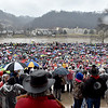 (Brad Davis/The Register-Herald) Teachers and service personnel from all over the state brave the rain and cold in massive numbers during a rally Saturday afternoon at the State Capitol Complex.