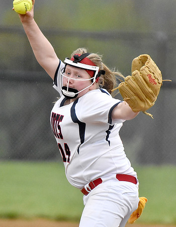 (Brad Davis/The Register-Herald) Independence starting pitcher Savannah Bragg delivers against Wyoming East Friday evening at Liberty High School.