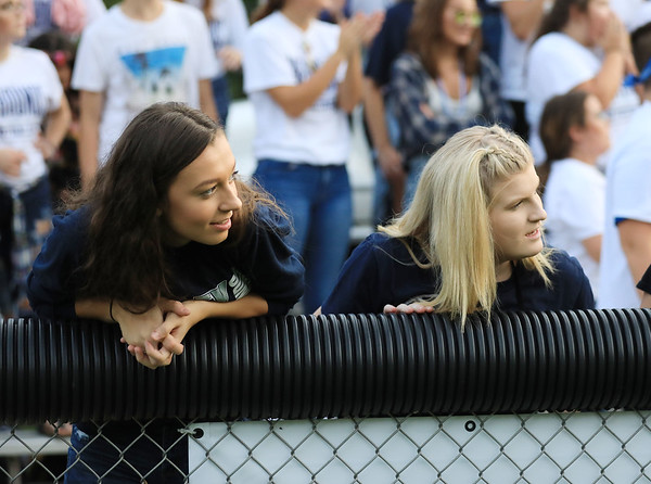 Two Valley fans look on Friday. (Chris Jackson/The Register-Herald)