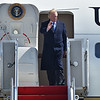 (Brad Davis/The Register-Herald) President Donald Trump arrives at Greenbrier Valley Airport Thursday afternoon.