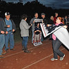 (Brad Davis/The Register-Herald) Senior night festivities take place through the lighting delay prior to their eventual postponed game against Nicholas County.