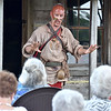 "(Brad Davis/The Register-Herald) Cherokee warrior Ostenaco (1703-1780), a.k.a. Hurricane resident Doug Wood, a character actor with the West Virginia Humanities Council, tells the story of his life during a special Living History presentation put on by the WVHC, the city of Beckley and the Raleigh County Historical Society Sunday afternoon at Wildwood House. Ostenaco, also known by his warrior name Utsidihi, or ""Man Killer,"" was most well known as great orator and a leading figure in diplomacy with British colonial authorities, as well as fighting against the French during the period."