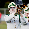 A trumpet player performs the Fayetteville Alma Matter before the game. Chad Foreman for the Register-Herlad.