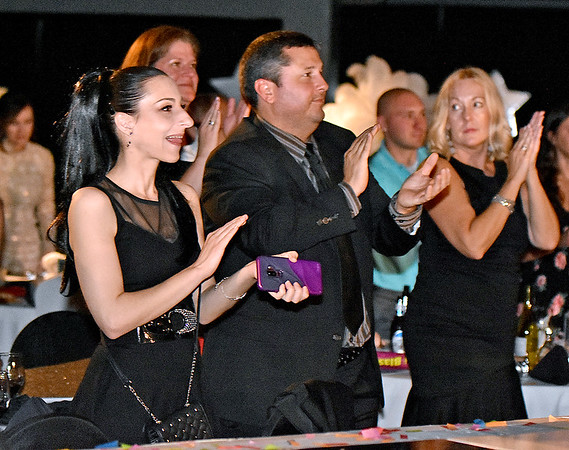 (Brad Davis/The Register-Herald) Fans react during the United Way of Southern West Virginia's Dancing With the Stars fundraising event Friday night at the Beckley-Raleigh County Convention Center.