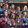 (Brad Davis/The Register-Herald) Graduates of the Dental Assisting program take a group photo after receiving their certificates during the Academy of Careers and Technology's 2018 awards and graduation ceremony Thursday evening at the Beckley-Raleigh County Convention Center.