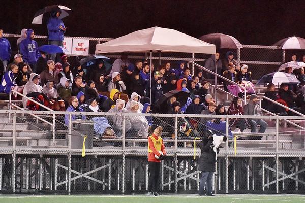 Fans watch the Robert C. Byrd verses Winfield Class AA/A semifinal soccer match Friday in Beckley. (Chris Jackson/The Register-Herald)