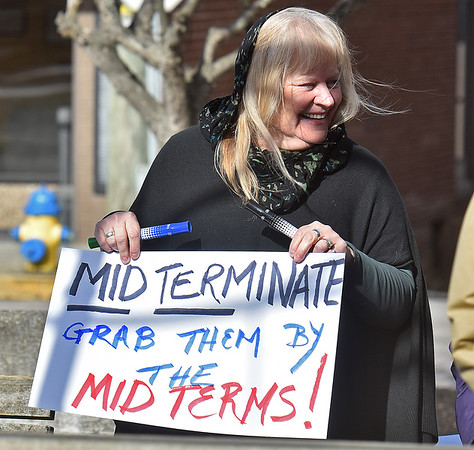 """(Brad Davis/The Register-Herald) Scenes from the """"It's Our Time"""" rally marking the one-year anniversary of the Women's March Saturday morning in Beckley's Showmaker Square."""