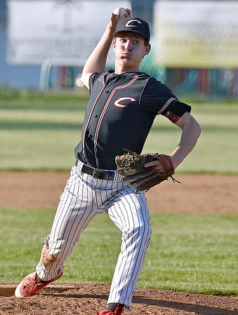 (Brad Davis/The Register-Herald) Greater Beckley Christian starting pitcher Blake Hunt delivers against Mount View Wednesday evening at Park Middle School.