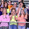 (Brad Davis/The Register-Herald) James Monroe students get rowdy reacting to events on the field Friday night in Lindside.
