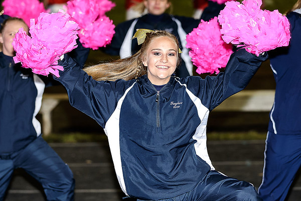 Shady Spring cheerleaders keep the crowd on their feet and rooting for the Tigers. Chad Foreman for the Register-Herald.