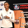 Former North Carolina basketball player, Iman McFarland, spoke during the Youth Summit held at the Beckley Raleigh County Convention Center Friday morning.<br /> (Rick Barbero/The Register-Herald)