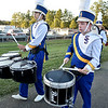 (Brad Davis/The Register-Herald) The Shady Spring marching band makes its way into the stadium Thursday night in Shady Spring.