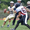 (Brad Davis/The Register-Herald) Shady Spring quarterback Drew Clark drops back to throw during the Tigers' homecoming win over visiting PikeView Saturday afternoon.