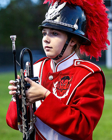 An Oak Hill trumpet player stand ready to perform. Chad Foreman for the Register-Herals.