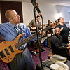 (Brad Davis/The Register-Herald) The Heart of God Ministries band keeps everyone grooving during the church's One Voice One Sound Celebration of Gospel Sunday evening. The jam-packed musical event was put together by the church's Soul to Soul Ministry and featured a large gathering of singers, psalmists, poets and other gospel talents from around the state.