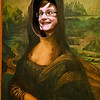"(Brad Davis/The Register-Herald) 13-year-old Tommy Maynor has some fun doing his best Mona Lisa impression inside the Youth Museum's new exhibit, ""Framed, Step into the Art,"" November 24."