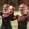 Liberty High School cheerleaders keep the fans pumped up. Chad Foreman for the Register-Herald.