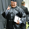 (Brad Davis/The Register-Herald) A graduating Westside senior reacts as he takes the stage to collect his diploma during the school's Commencement Ceremony Saturday afternoon in Clear Fork.