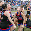 Midland Trail Cheerleader Serena Minor enjoys a laugh with friends before the game.<br /> Submitted photo by Sarah Garland