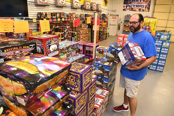 Lance Bush, owners of WV Fireworks Outlet in Crab Orchard<br /> (Rick Barbero/The Register-Herald)