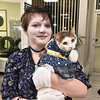 (Brad Davis/The Register-Herald) Daniels resident Jessica Heimer and her cat Angel are dressed up as each other during the Humane Society of Raleigh County's Howl-o-Ween pet costume contest Saturday afternoon inside the Beckley Plaza Mall.