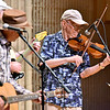 (Brad Davis/The Register-Herald) Fiddler Buddy Griffin and Charleston-based Blue Yonder perform during the Appalachian Jamboree August 22 at Woodrow Wilson High School.