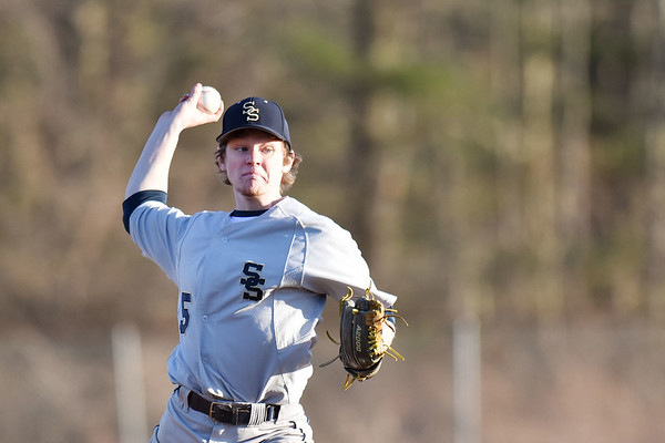 Shady Spring's (5) delivers a pitch during their baseball game against Woodrow Wilson in Beckley. (Chris Jackson/The Register-Herald)