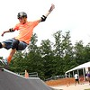 Ryan Mast, of Texas, makes a jump at the Action Point Skate Park during the World Scout Jamboree held at the Summit Bechtel Reserve in Glen Jean.<br /> (Rick Barbero/The Register-Herald)