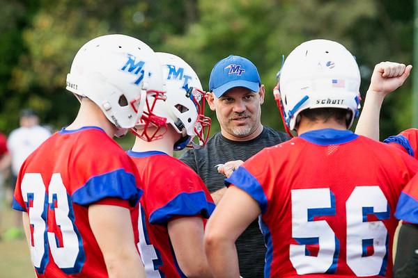 Midland Trail's Coach Charlie Pritt giving some last minute advice.<br /> J