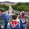 Scouts cchecking out the view from the Consul Energy Bridge during the World Scout Jamboree at the Summit Bechtel Reserve in Glen Jean.