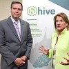 Senator Shelly Moore Capito, right and ARC Co-Chair Tim Thomas, speak speak during a tour of the HIVE network, an entrepreneurial support network serving locations in Beckley, Summersville, Lewisburg, and Hinton.<br /> (Rick BArbero/The Register-Herald0