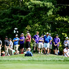 during the first round of golf of A Military Tribute at The Greenbrier in White Sulphur Springs on Thursday. (Chris Jackson/The Register-Herald)