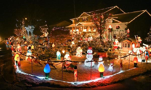 Christmas decorations at Walt Kiser's home on Grandview Road in Beaver.<br /> (Rick Barbero/The Register-Herald)