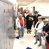 People viewing the evidence lockers at the new Beckley Police Department on 501 Neville Street after the ribbon cutting dedication ceremony. <br /> (Rick Barbero/The Register-Herald)