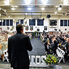 (Brad Davis/The Register-Herald) The caps fly at the conclusion of Westside's commencement Saturday afternoon in Clear Fork.