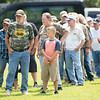People line up to eat during the annual UMWA Labor Day Celebration at John Slack Memorial Park in Racine on Monday. (Chris Jackson/The Register-Herald)