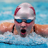 Woodrow Wilson's Eden Honaker competes in the 200 Meter IM during a tri-meet competition in Beckley on Monday. (Chris Jackson/The Register-Herald)