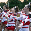 Oak Hill Red Devils Cheerleaders in action.