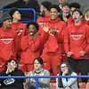 (Brad Davis/The Register-Herald) The Greater Beckley Christian boys basketball team support their classmates on the court against Wirt County during State Volleyball Tournament action Friday afternoon at the Charleston Civic Center.