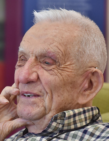 Navy veteran Robert Mareneck speaks about his service and life in Lewisburg. (Chris Jackson/The Register-Herald)