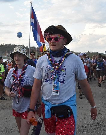 (Brad Davis/The Register-Herald) Scenes at the World Scout Jamboree's Cultural Celebration Friday night at the Bechtel Summit Reserve.