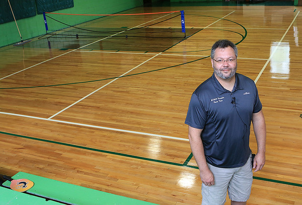Pax mayor William Hughes has served as mayor for the last 6 years and his efforts to revitalize the town include a water and a sewer project,  the remodeling of the old gym and the movement of the town hall into the town's old school. (Jenny Harnish/The Register-Herald)