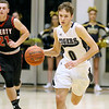 (Brad Davis/The Register-Herald) Shady Spring's Tommy Williams moves up the court against Liberty January 16 in Shady Spring.